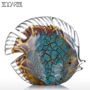 Image 1 - Tooarts Colorful Spotted Tropical Fish Glass Sculpture Fish Sculpture Modern Art Favor Gift Artwork Home Decoration