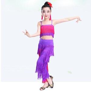 Image 5 - Songyuexia filles jupe de danse latine vêtements de performance vêtements dexamen de qualité Cha Liusu jupe de danse pour enfants