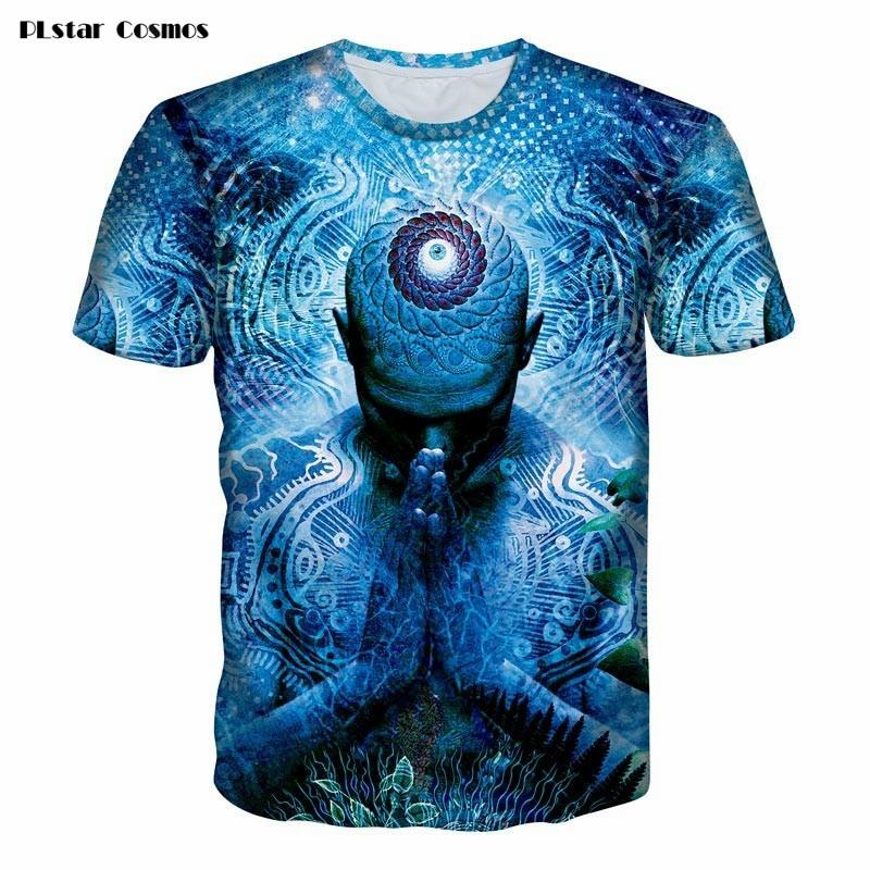 PLstar Cosmos Gratitude for the Earth &Sky T-Shirt consciousness t shirt Women/Men 3d Fashion Clothing Summer tees short sleeves