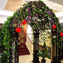 Anmas home 2.5m Long 90pcs Artificial Plants Green Ivy Leaves Grape Vine Fake Foliage Home Wedding Decoration