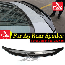 Fits For Audi A5 A5Q Rear Spoiler Wing Tail Caractere Style 4 Door Sedan Carbon Trunk car styling 09-16