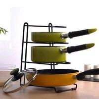 Free Shipping Pan Cover Stand Kitchen Holder Multifunction Storage Racks Four Layers Dish Shelves Kitchen Racks