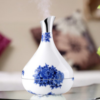 Newest Smart Home Aroma Diffuser 300 ML White Blue Porcelain Body Sensor Air Humidifier Aromatherapy Essential