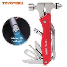 купить TOYOTERU Hatchet emergency safety hammer multifunction Axe stainless steel rescue weapon Outdoor Survival tool pliers knife дешево