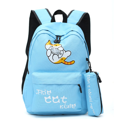 Anime Neko Atsume Cosplay Japanese cute student campus backpack leisure travel backpack birthday gift anime fairy tail cosplay anime shoulder bag male female student travel leisure large capacity backpacker birthday gift