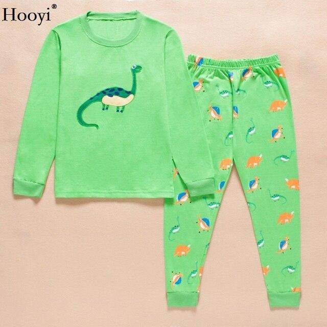 39f53fe146f4 Hooyi Dino Kids Pyjamas 100% Cotton Boys Pajamas Sets for children ...