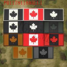Canada Red Maple flag 3D PVC patch(China)