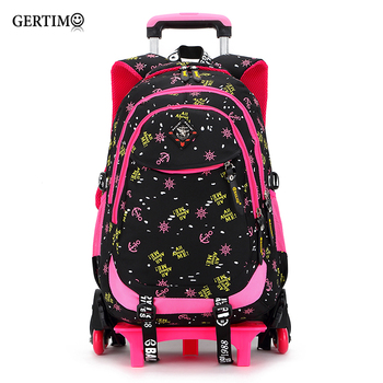 2 /6 Wheels High Quality Girls Trolley Backpack Schoolbag Orthopedic Bags For Children Trolley School Bag Boys Backpack kids boys girls trolley schoolbag luggage book bags backpack latest removable children school bags with 2 wheels stairs
