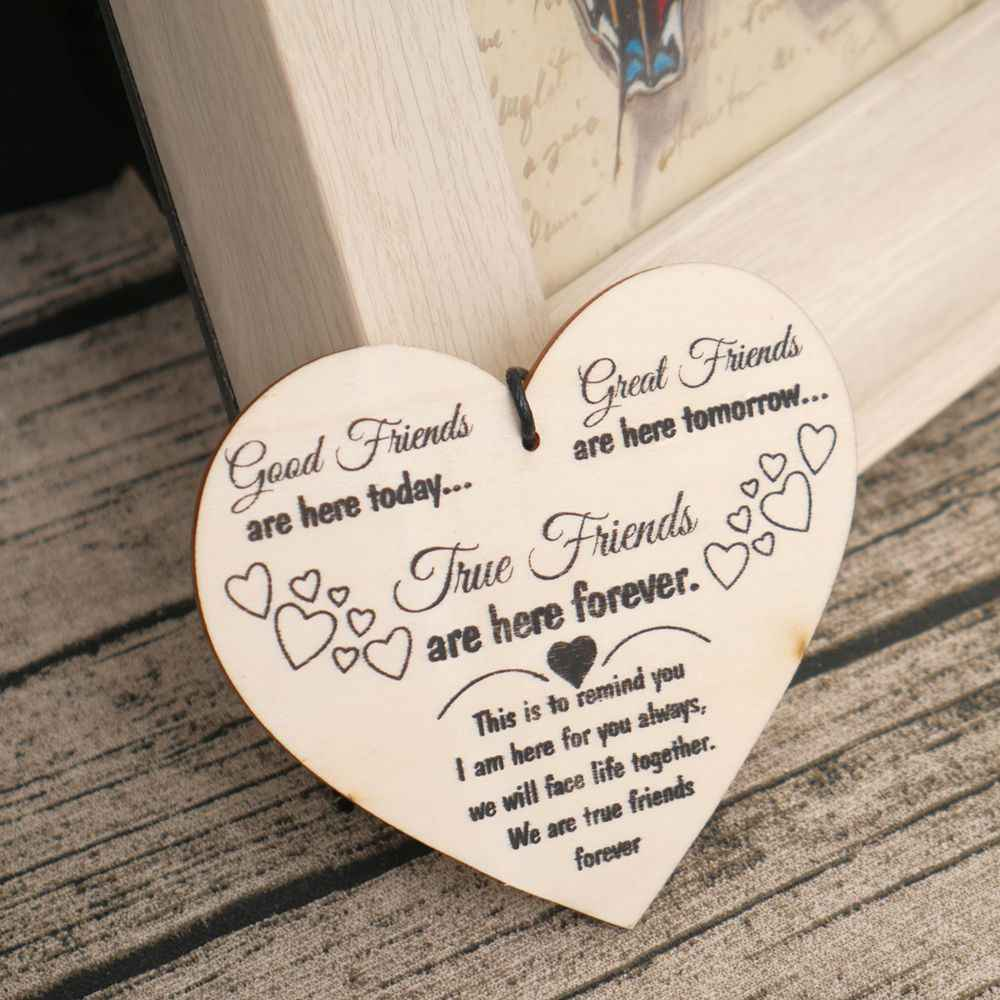 detail feedback questions about wood message card friend gift shabby