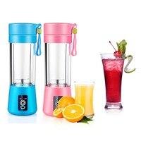 LAGUTE Mini Electric Fruit Juicer Machine Mini Portable USB Rechargeable Smoothie Maker Blender Shake And Take