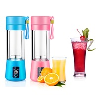LAGUTE Mini Electric Fruit Juicer Machine Mini Portable USB Rechargeable Smoothie Maker Blender Shake And Take