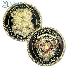 Корпус морской пехоты США отпустите собак войны Военный вызов монета медаль 40*3 монета для сувенира американской коллекции монет