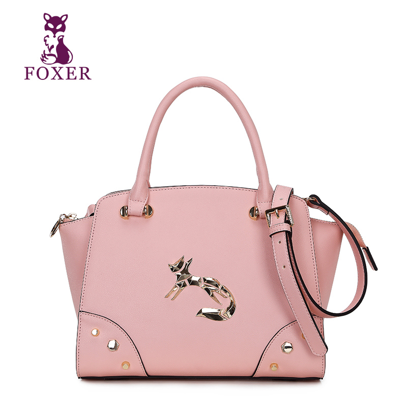 FOXER 2018 luxury handbag women messenger bags split leather bag brand designer handbags ladies shoulder bag crossbody for women giaevvi luxury handbags split leather tote women messenger bags 2017 brand design chain women shoulder bag crossbody for girls
