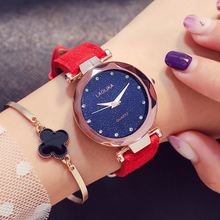 Luxury Women Watches Ladies Clock Starry Diamond Geometric Surface Casual Dress Quartz Wristwatch