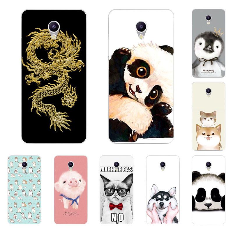 Meizu m5 note Case,Silicon Cute animals Painting Soft TPU Back Cover for Meizu m5 note Phone bags