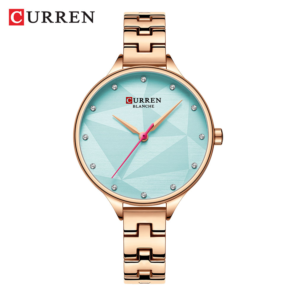 Women Fashion Trend Creative Design CURREN Quartz Watches Women's Dress Bracelet Clock Ladies Wristwatches Bayan Kol Saati