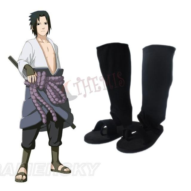 MMGG Anime Naruto cosplay Ninja Uchiha Sasuke Cosplay ayakkabı Cosplay çizmeler fermuarlı arka