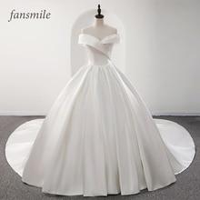 Fansmile 2020 Robe De Mariage Lustrous ซาติน Ball ชุดแต่งงาน Vestido De Noiva PLUS ขนาดที่กำหนดเอง Gowns แต่งงาน FSM 573T