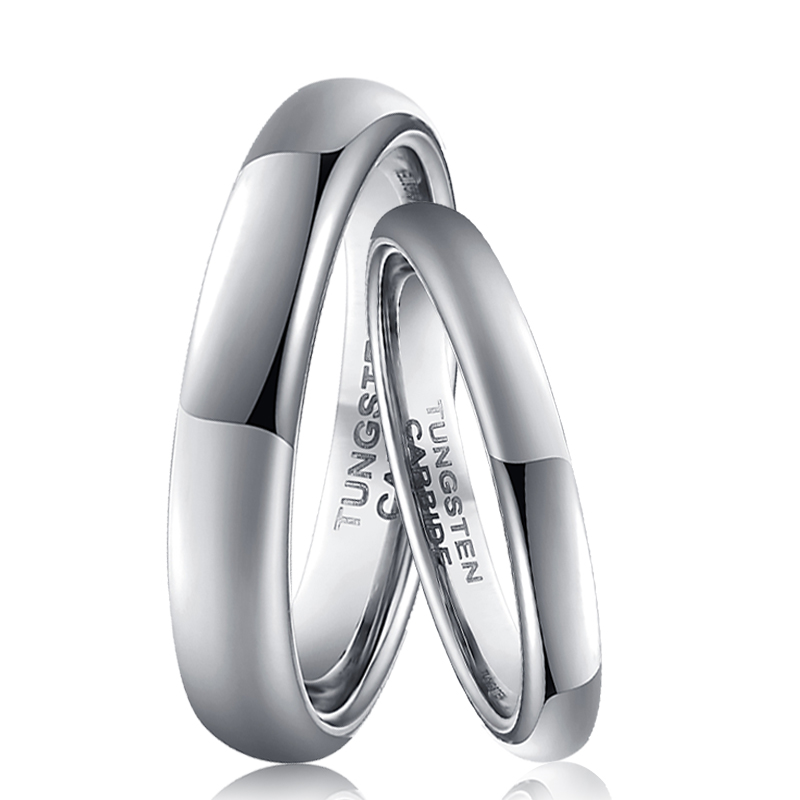 2mm Small Rings for Women 4mm Classic Rings for Men Silver Color Tungsten Carbide Wedding Rings Set Size 4 to 13 6pcs of stylish color glazed round rings for women