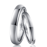 2mm Small Rings for Women 4mm Classic Rings for Men Silver Color Tungsten Carbide Wedding Rings Set Size 4 to 13
