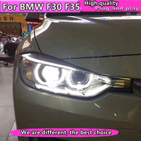 Car Styling for BMW 316i 320i 328 335 Headlights 2013 2015 Headlight DRL Lens Double Beam H7 HID Xenon bi xenon lens