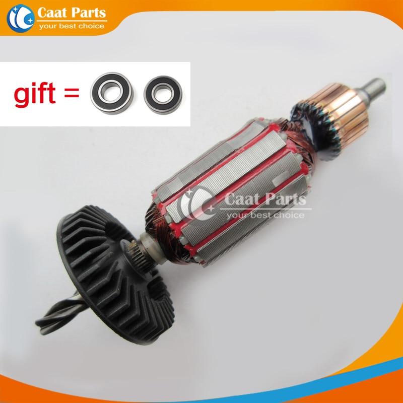 Spedizione gratuita! AC220V-240V Rotore per armatura a martello elettrico con albero a 4 denti per Bosch GBH2-20SE GBH2-20S, alta qualità!