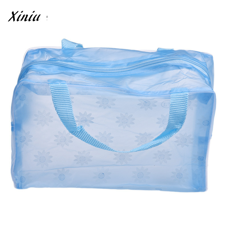 Cosmetic Bag Portable Makeup Bag Toiletry Travel Wash Toothbrush Pouch Organizer Bag Transparent Bag Maquiagem A7725 Cosmetic pvc transparent wash portable organizer case cosmetic makeup zipper bathroom jewelry hanging bag travel home toilet bag