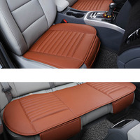 PU Leather Bamboo Strips Charcoal Cushion Car Seat Cover for h7 led t10 volkswagen mercedes toyota audi a3 opel Car Seat Cover