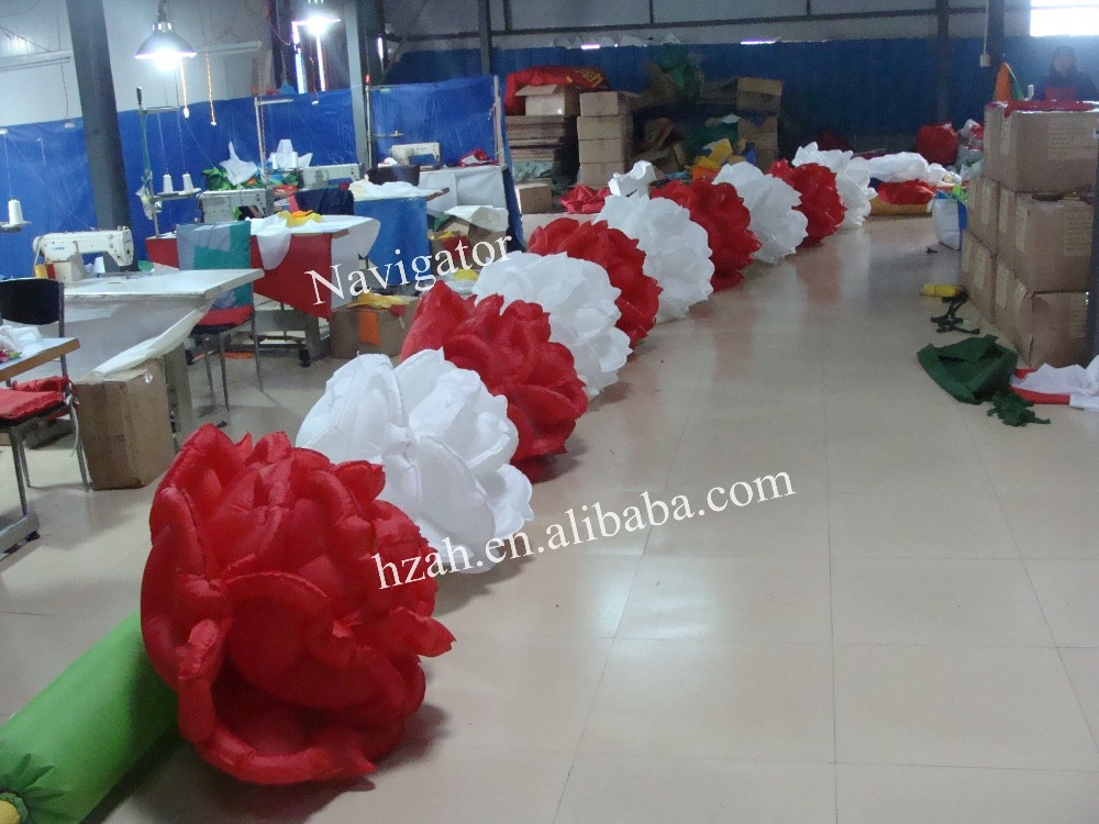 Inflatable Flower Chain for Wedding Decoration 2017 new inflatable flower long wedding decoration flower