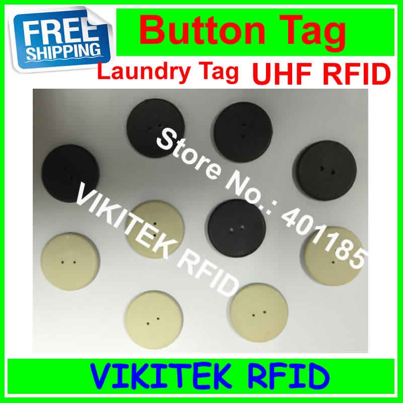 VIKITEK UHF RFID laundry tag 50 pcs 915MHZ 860-960MHZ Alien Higgs3 chip PPS material can be washed 50pcs 74 21mm rfid gen2 uhf paper tag with alien h3 chip used for warehouse management