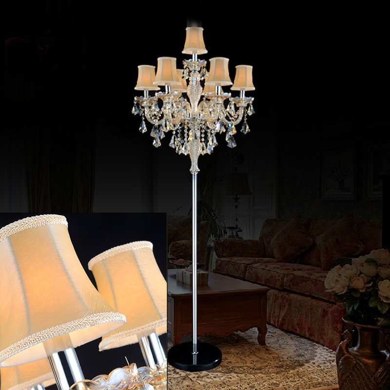 US $510.0 15% OFF|indoor lights crystal floor lamp living room modern floor  lamps bedroom led floor light standing industrial floor light switch-in ...