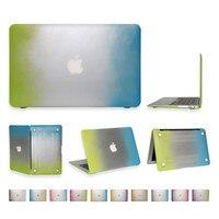 Macbook 11 13 Matte Rainbow Hard Protector Case Pro 13 15 Retina 12 13 15 inch siliconen Toetsenbord Cover 3 in 1