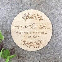 Сохранить дату деревянные магниты, магнит на холодильник выгравированы свадебный подарок приглашение, подарки для гостей