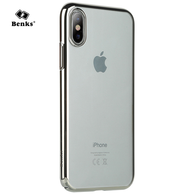 best service bfbb8 086df US $6.9 |Benks Cover for iPhone X/ for iPhone 10 Case Ultra Thin Hard  Plastic Electroplate Frame Design Back Cover for iPhoneX Shockproof-in  Fitted ...
