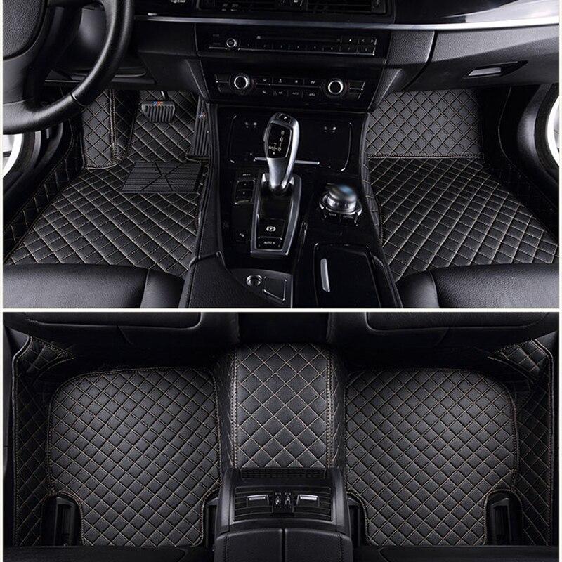 Tapis de sol de voiture sur mesure pour Mercedes Benz tous les modèles E C GLA GLE GL CLA ML GLK CLS S R A B CLK SLK G GLS tapis en cuir de voiture