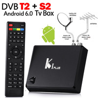 MECOOL K1 PLUS. Android 6.0 S905D 1G/8G RAM TV Box + DVB-T2 Terrestre + DVB-S2 Tuner Ricevitore Satellitare Combo Ccamd Newcam