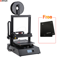 Ortur Factory Fast Assembly 3d Printer with High Speed Aluminum Hotbed Filament Detector Break resuming Auto Leveling Capability