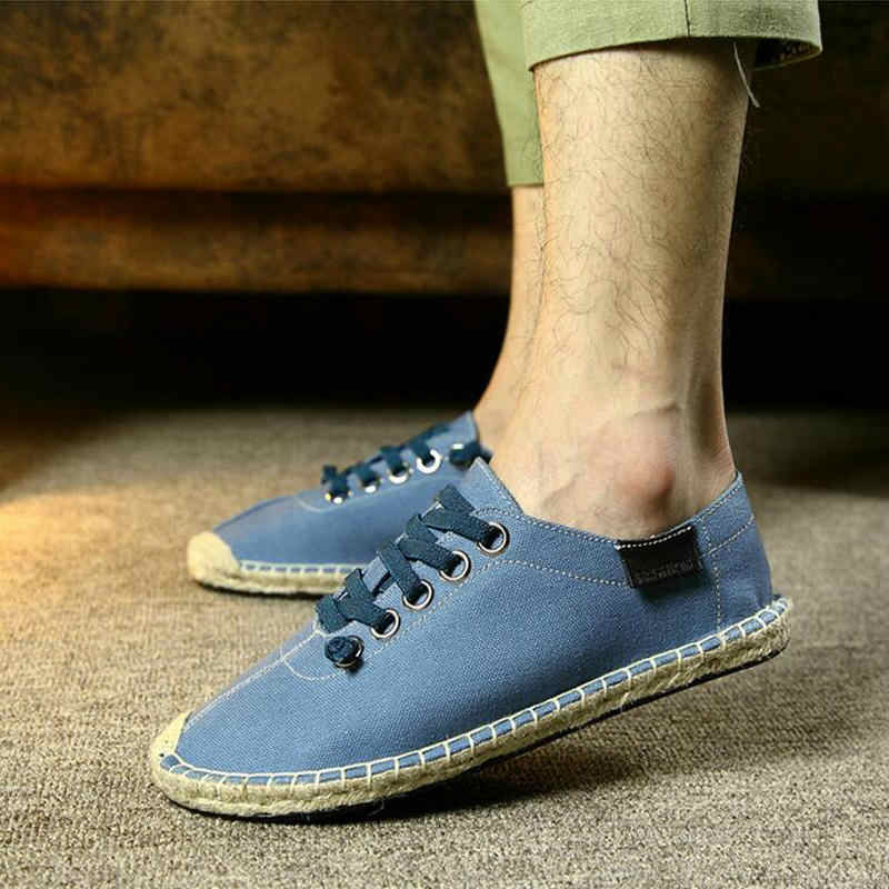 best sneakers d7ed3 5023e Lover Slip On Flats Fisherman Shoes Casual summer Sandals conci style  loafers Zapatillas Mujer Espadrilles Canvas