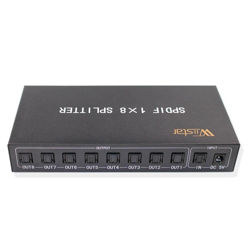 Nouveau Style séparateur Audio optique numérique SPDIF/TOSLINK 1x8 amplificateur Audio Support DTS/Dolby avec adaptateur secteur livraison gratuite