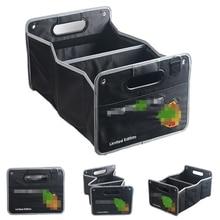 Auto Trunk Organizer Collapsible Cargo Storage Container Black Folding Storage Box Bag for Porsche