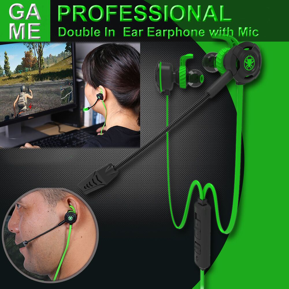New hot Professional Game Headphone In-ear Gaming headphone Bass Stereo With Mic PC Gamer Headset for Mobile Phone Computer PS4 led bass hd gaming headset mic stereo computer gamer over ear headband headphone noise cancelling with microphone for pc game
