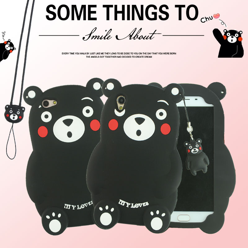 Cute Cartoon 3D Kumamon Bear Soft Silicone Phone Case Cover For BBK Vivo Y35 Y51 Y55 Y66 Y67 V3 V3 Max V5 X3 X5 X6 X7 X9 / Plus