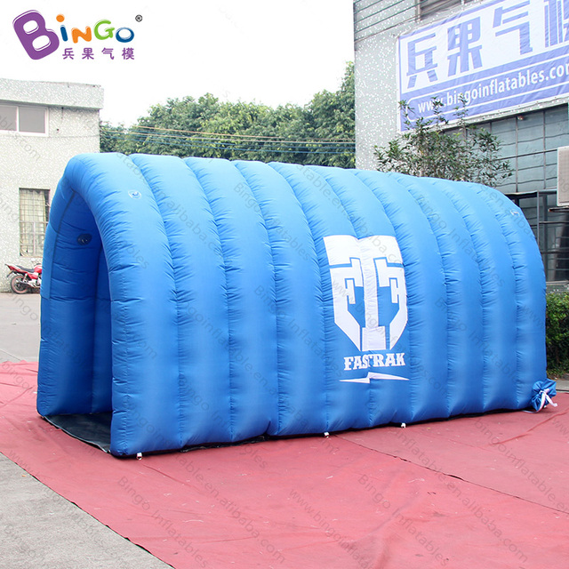 Free Delivery Blue color tent type Inflatable straight channel 4x2x2 Meters customized blow-up football & Free Delivery Blue color tent type Inflatable straight channel ...