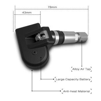 датчик контроля давления в шинах | Zeepin VC601 BLE TPMS система контроля давления в автомобильных шинах Bluetooth 4,0 дисплей низкой энергии в приложении DC 3 в 4 внутренних датчика