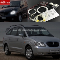 HochiTech Excellent CCFL Angel Eyes Kit Ultra Bright Headlight Illumination For SsangYong Rodius 2004 2013