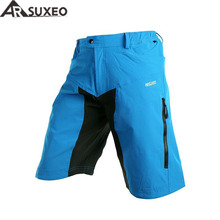 2017 ARSUXEO Outdoor Sports Mens Cycling Downhill MTB Shorts Mountain Bike Bicycle Shorts Wear Jersey Clothing With Pad DH-2