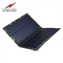 1x Wama Folding Foldable Camouflage Charger 3W Photo voltaic Panels for Cell Telephones Energy Financial institution 18650 Batteries USB Open air Waterproof