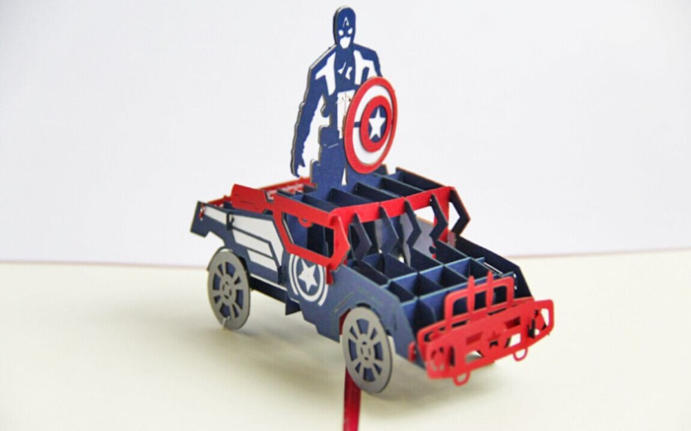 Captain America pop up card 3D avengers cards greeting card music card spiral pop up musical notes 3d card music instruments pop up card bday pop up card