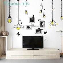 Criativo lustre foto adesivo de parede quarto sala estar varanda fundo decoração adesivo para decorações de parede sala estar