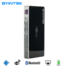 Byintek смарт-мини-проектор Роскошные MD322 портативный домашний кинотеатр карман S6 Android WIFI 8 ГБ USB AirPlay Bluetooth HDMI Proyector
